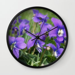 Lawn Gems of Spring Wall Clock