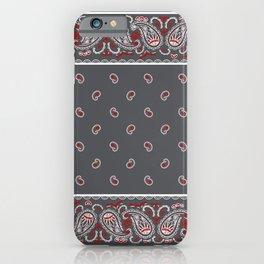 Wicked Gray Bandana iPhone Case