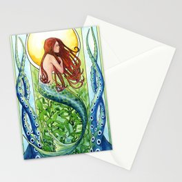 Kelp Forest Mermaid Stationery Cards
