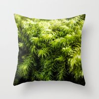 moss Throw Pillows featuring Moss by Michelle McConnell
