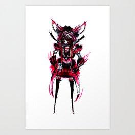 red black 01 Art Print