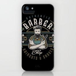 Authentic Barber Shop iPhone Case