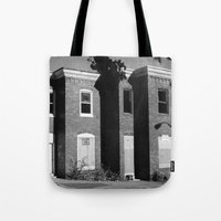 baltimore Tote Bags featuring West Baltimore by Andrew Mangum