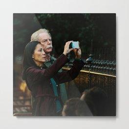 Donald & Lucy take photoraphs Metal Print