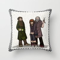 nori Throw Pillows featuring Hair Care by wolfanita