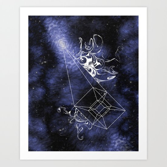 Dark Matter Supernova Art Print