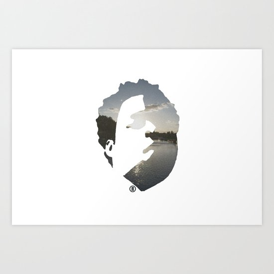 Face & The Ocean Art Print