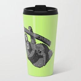Newspaper Sloths Travel Mug