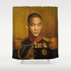 Will Smith - replaceface Shower Curtain