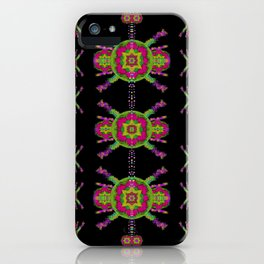 paradise flowers in a decorative jungle iPhone Case