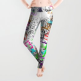 Happiness and love in Arabic words Leggings