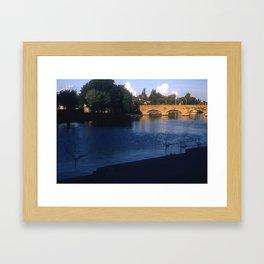 England Art Print * Vintage Photo * 1950's * Stratford upon Avon * Bridge * Kodachrome Framed Art Print