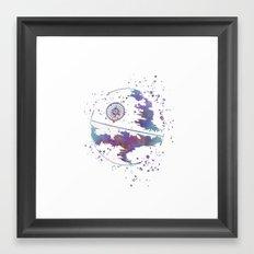 Star . Wars Death Star Framed Art Print