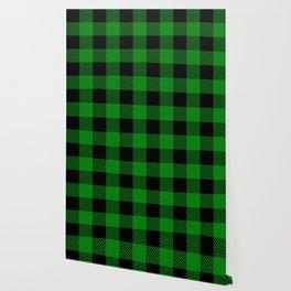 Green Buffalo Plaid Wallpaper
