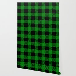 Green Buffalo Plaid Wallpaper