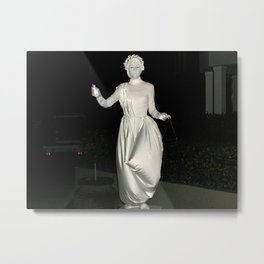 Lady in White Metal Print