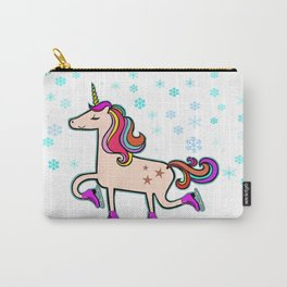 Proud Xmas Unicorn in the Snow Carry-All Pouch