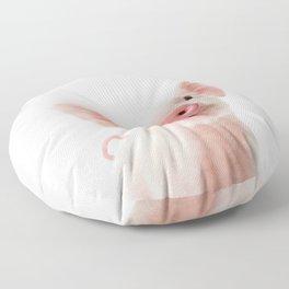Baby Piglet Portrait Floor Pillow