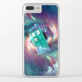 TARDIS EXPLODES Clear iPhone Case