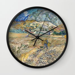 Landscape at Saint-Rémy by Vincent van Gogh Wall Clock