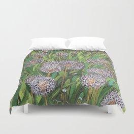 Dandelions field Duvet Cover