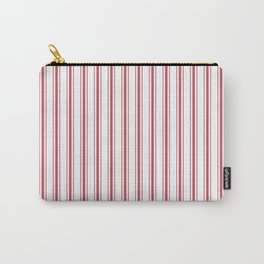 Mattress Ticking Wide Striped Pattern in USA Flag Red and White Carry-All Pouch
