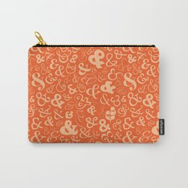Ampersands - Orange Carry-All Pouch