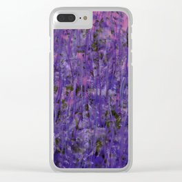 Pink Moss Clear iPhone Case
