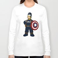 simpson Long Sleeve T-shirts featuring Captain Simpson by Betmac