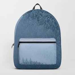 Omnious foggy winter forest - landscape photography Backpack