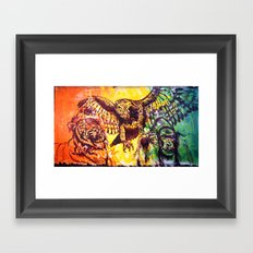 Triumvirate Framed Art Print