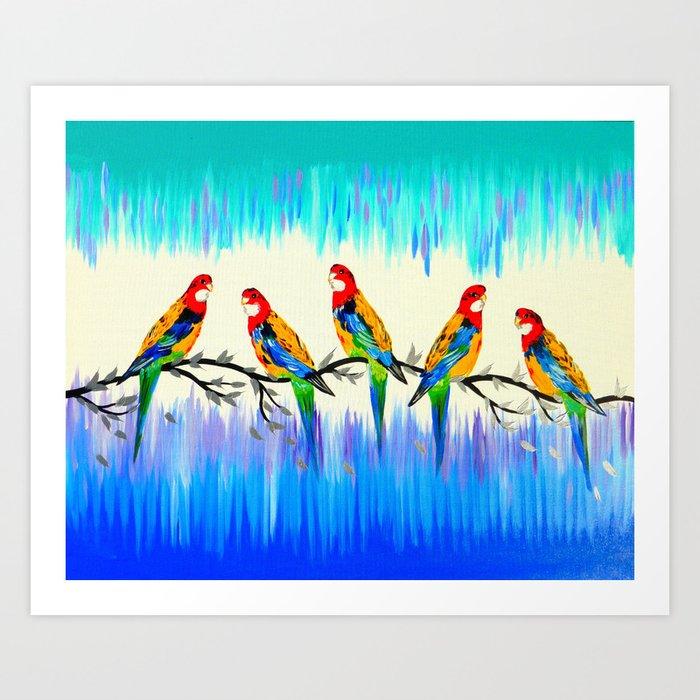 Australian Birds Art Print