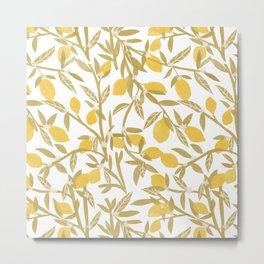 Lemon Pattern Metal Print