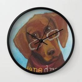 Animal Optics Red Fog Wall Clock