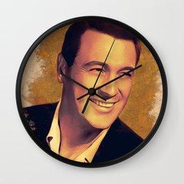 Rock Hudson, Hollywood Legend Wall Clock