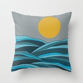 The ocean, waves and sun Throw Pillow