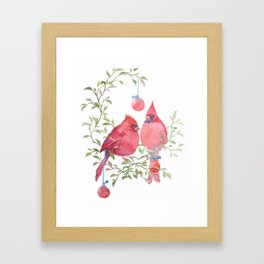 The Christmas Chirps Framed Art Print