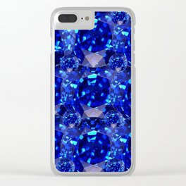 BLUE SAPPHIRES GEM BIRTHSTONE Clear iPhone Case