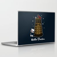 david tennant Laptop & iPad Skins featuring Hello Doctor Tennant by RebelArtCollective