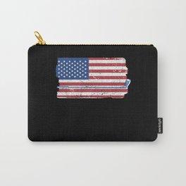 Retro American Flag Golf Funny Golf Club Carry-All Pouch