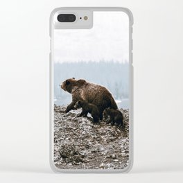Bear Family / Yellowstone Clear iPhone Case