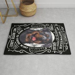 My Rottweiler does speak, Rottweiler owner, Pet lover Rug