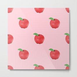 Pretty Pink Apples Fruits Summer Design Metal Print