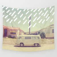 mexico Wall Tapestries featuring Volkswagen, New Mexico by Anna Dorfman