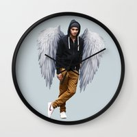 zayn Wall Clocks featuring Zayn by gutsngore