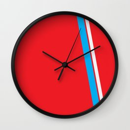 Red Slant Wall Clock