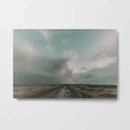 Miles to Go x Iceland Road Metal Print