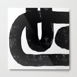 Nikko Abstract Series - Dark Line 2 Metal Print