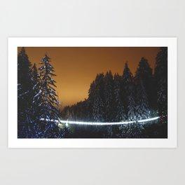 Capilano Suspension Bridge Art Print