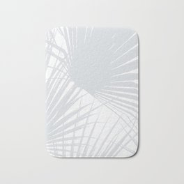 Pale Grey Tropical Leaves Bath Mat